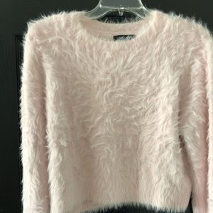 Kendall & Kylie Blush/Soft Pink Fuzzy Sweater